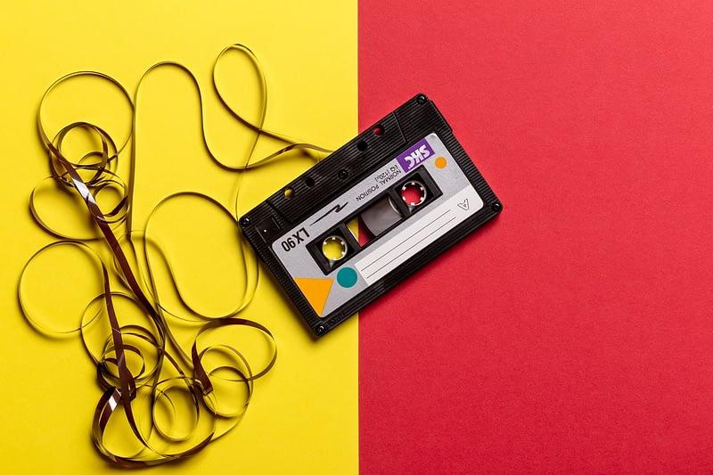listening to my walkman audio cassette