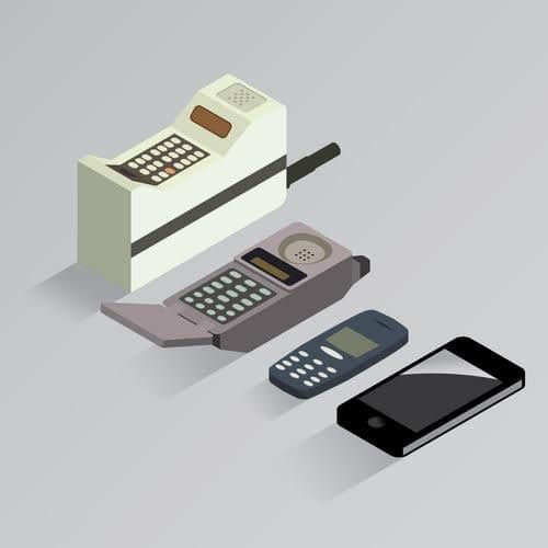 History of Mobiles - brick to iphone