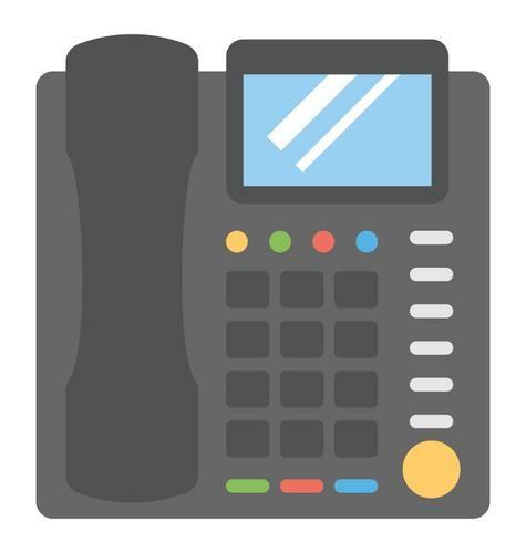 Desk Phone Illustration