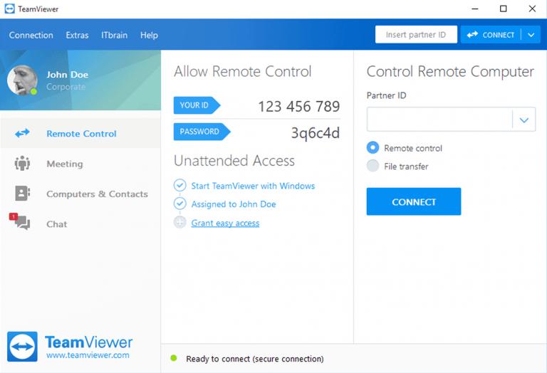 TeamViewer 13 Screen Shot
